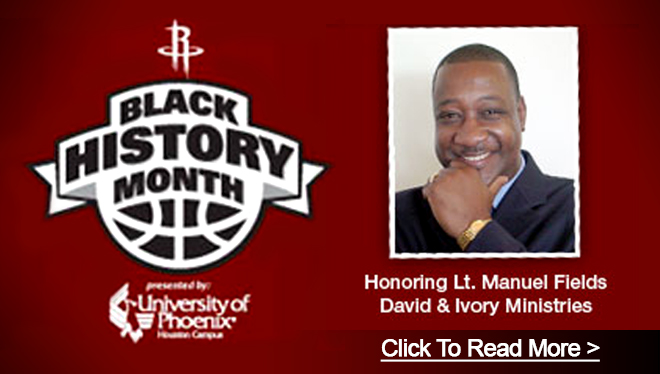UNIVERSITY OF PHOENIX AND THE HOUSTON ROCKETS CELEBRATION OF BLACK HISTORY MONTH
